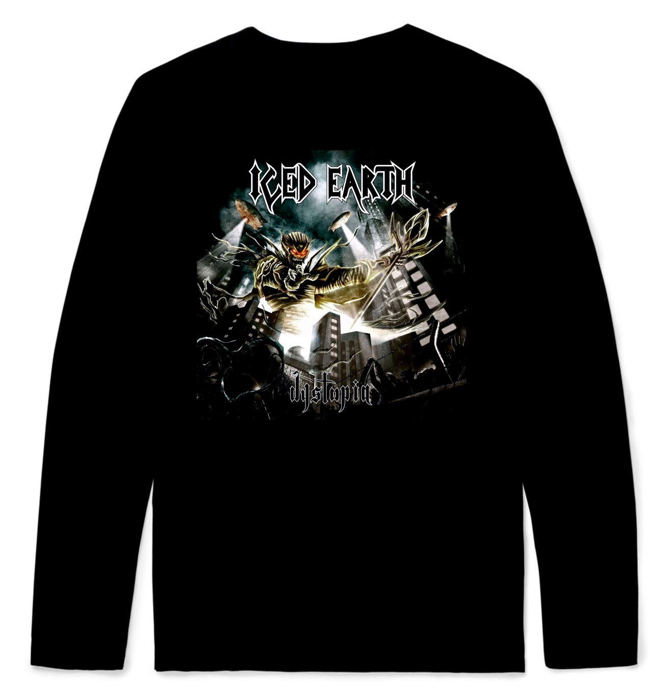 Iced Earth Dystopia Longsleeve T-Shirt – Metal   Rock T-shirts and ... a3c16c826f